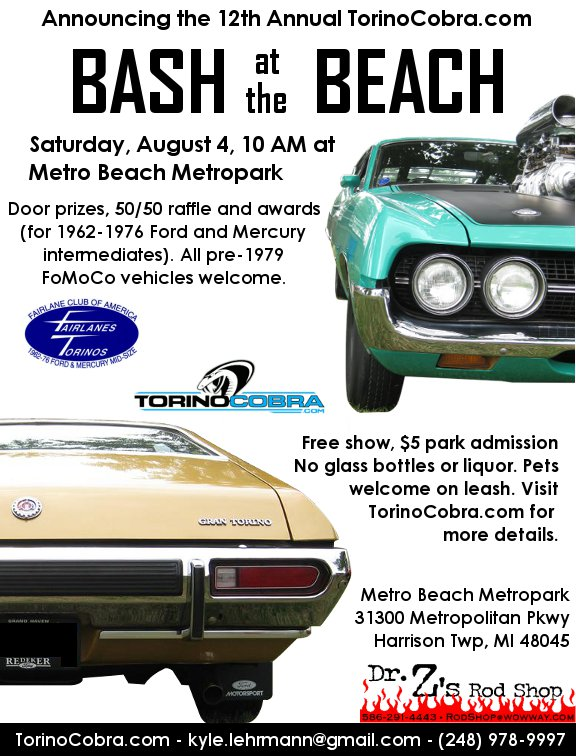 The  Bash At The Beach Will Be Held August  At Metro Beach Metropark Sorry For The Late Notice